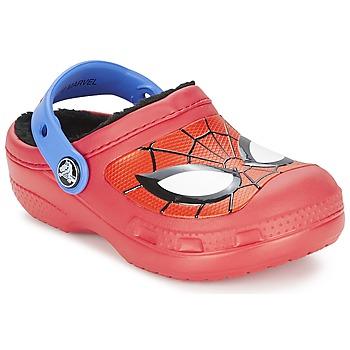 鞋子 男孩 洞洞鞋/圆头拖鞋 crocs 卡骆驰 SPIDERMAN LINED CLOG 红色