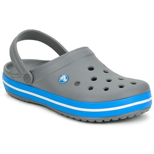 鞋子 洞洞鞋/圆头拖鞋 crocs 卡骆驰 CROCBAND 灰色 / 海洋色
