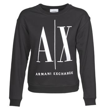 衣服 女士 卫衣 EMPORIO ARMANI EAX 8NYM02 黑色