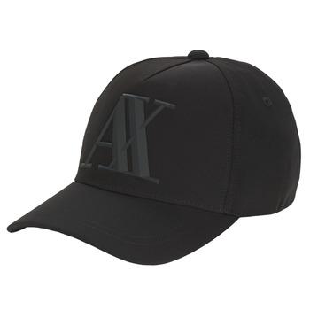 纺织配件 男士 鸭舌帽 EMPORIO ARMANI EAX  黑色
