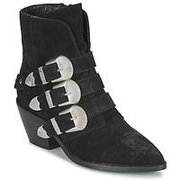 鞋子 女士 短筒靴 Pepe jeans WESTERN W BUCKLE 黑色