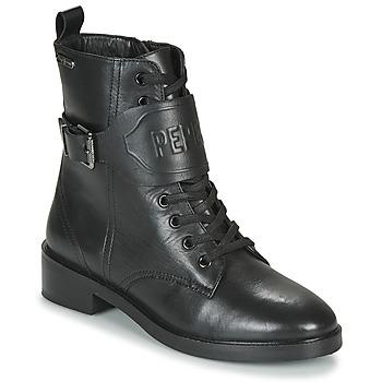 鞋子 女士 短筒靴 Pepe jeans MALDON LOGO 黑色