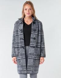 衣服 女士 大衣 Derhy SAISON 灰色 / 黑色