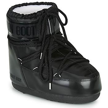 鞋子 女士 雪地靴 Moon Boot MOON BOOT CLASSIC LOW GLANCE 黑色