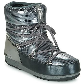 鞋子 女士 雪地靴 Moon Boot MOON BOOT LOW SAINT MORITZ WP 灰色