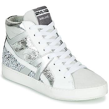 鞋子 女士 高帮鞋 Meline  白色 / 银色