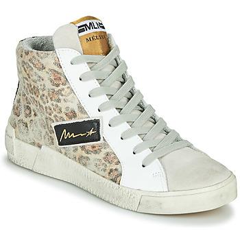 鞋子 女士 高帮鞋 Meline  米色 / Leopard