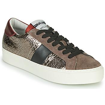 鞋子 女士 球鞋基本款 Meline PL1810 古銅色 / 红色
