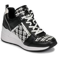 鞋子 女士 球鞋基本款 Michael by Michael Kors GEORGIE TRAINER 黑色 / 白色