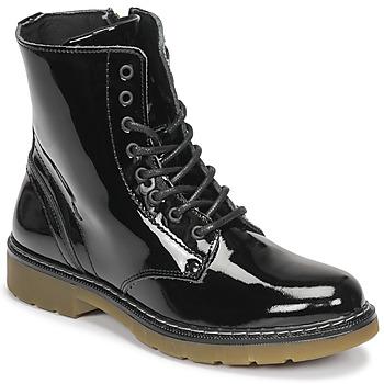 鞋子 女孩 短筒靴 Bullboxer AOL501E6LGBKPT 黑色