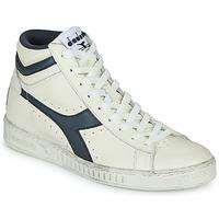 鞋子 高帮鞋 Diadora 迪亚多纳 GAME L HIGH WAXED 白色 / 蓝色