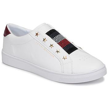 鞋子 女士 球鞋基本款 Tommy Hilfiger TOMMY HILFIGER ELASTIC SLIP ON 白色