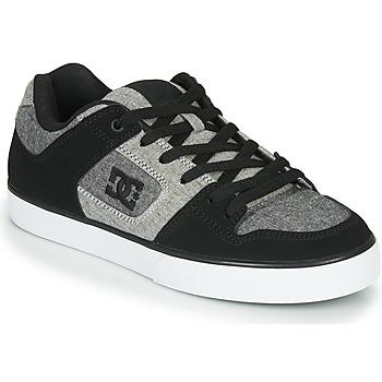鞋子 男士 球鞋基本款 DC Shoes PURE 黑色 / 灰色