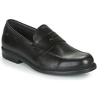鞋子 男士 皮便鞋 Fluchos 富乐驰 SIMON 黑色