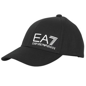 纺织配件 男士 鸭舌帽 EA7 EMPORIO ARMANI TRAIN CORE ID M LOGO CAP 黑色