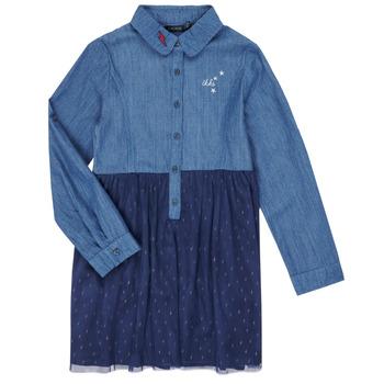 衣服 女孩 短裙 Ikks XR30122 蓝色