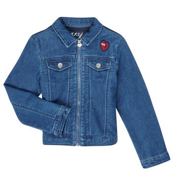 衣服 女孩 牛仔外套 Ikks XR40052 蓝色