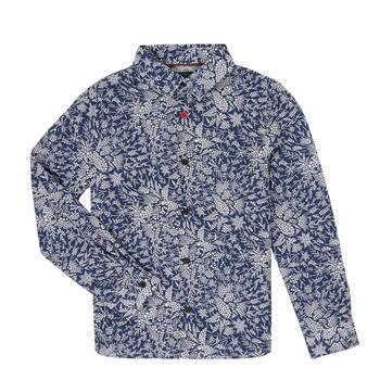 衣服 男孩 长袖衬衫 Ikks XR12023 蓝色