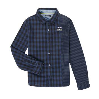 衣服 男孩 长袖衬衫 Ikks XR12123 蓝色