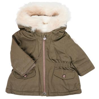 衣服 女孩 棉衣 Ikks XR42020 卡其色