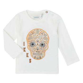 衣服 男孩 长袖T恤 Ikks XR10141 白色