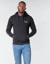 衣服 男士 卫衣 EA7 EMPORIO ARMANI TRAIN LOGO SERIES M HOODIE RN COFT 黑色