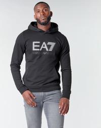 衣服 男士 卫衣 EA7 EMPORIO ARMANI TRAIN VISIBILITY M HOODIE RN COFT 黑色