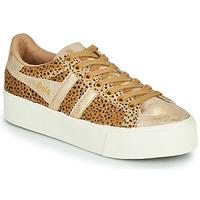 鞋子 女士 球鞋基本款 Gola ORCHID PLATEFORM SAVANNA 金色 / Guépard