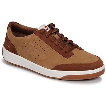 鞋子 男士 球鞋基本款 Clarks 其乐 HERO AIR LACE 驼色