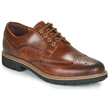 鞋子 男士 德比 Clarks 其乐 BATCOMBE WING 驼色