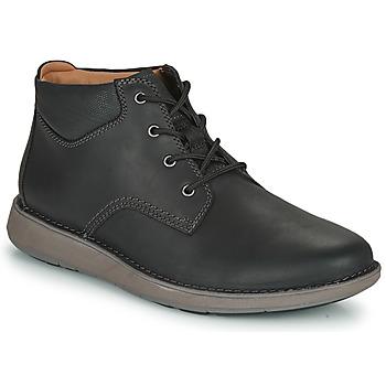鞋子 男士 德比 Clarks 其乐 UN LARVIK TOP2 黑色