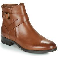 鞋子 女士 短筒靴 Clarks 其乐 HAMBLE BUCKLE 棕色