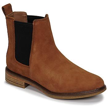 鞋子 女士 短筒靴 Clarks 其乐 CLARKDALE ARLO 驼色