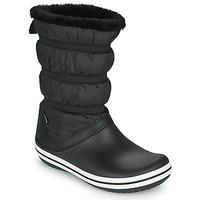 鞋子 女士 雪地靴 crocs 卡骆驰 CROCBAND BOOT W 黑色