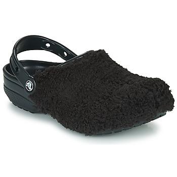 鞋子 洞洞鞋/圆头拖鞋 crocs 卡骆驰 CLASSIC FUZZ MANIA CLOG 黑色