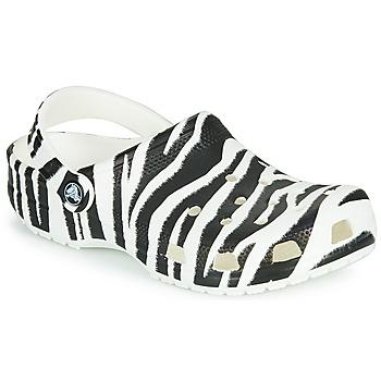 鞋子 女士 洞洞鞋/圆头拖鞋 crocs 卡骆驰 CLASSIC ANIMAL PRINT CLOG 斑马纹
