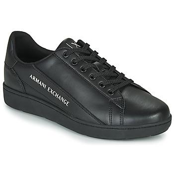 鞋子 男士 球鞋基本款 EMPORIO ARMANI EAX XV262-XUX082 黑色