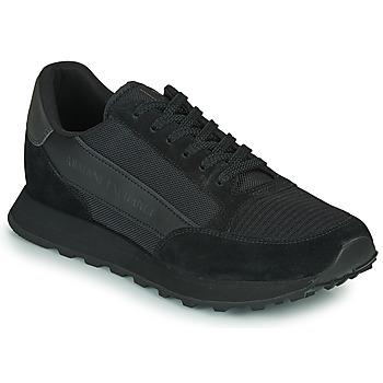 鞋子 男士 球鞋基本款 EMPORIO ARMANI EAX  黑色