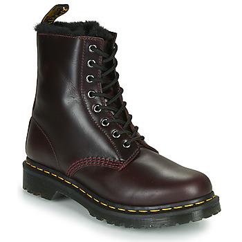 鞋子 女士 短筒靴 Dr Martens 1460 SERENA 波尔多红
