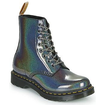 鞋子 女士 短筒靴 Dr Martens VEGAN 1460 PASCAL 银灰色