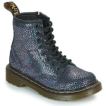 鞋子 女孩 短筒靴 Dr Martens 1460 J 黑色 / 金属光泽