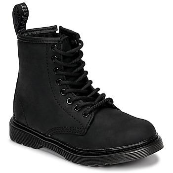 鞋子 儿童 短筒靴 Dr Martens 1460 SERENA MONO J 黑色