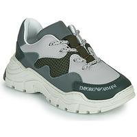 鞋子 儿童 球鞋基本款 Emporio Armani XYX008-XOI34 绿色 / 灰色