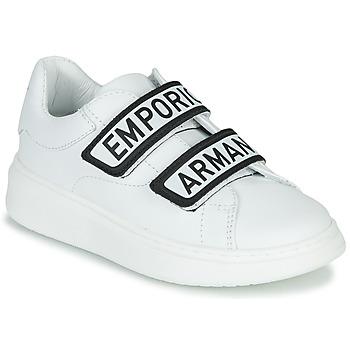 鞋子 儿童 球鞋基本款 Emporio Armani XYX007-XCC70 白色 / 黑色