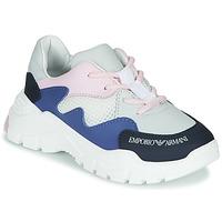 鞋子 男孩 球鞋基本款 Emporio Armani XYX008-XOI34 白色 / 蓝色