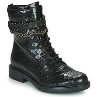 鞋子 女士 短筒靴 Mjus CAFE SNAKE 黑色