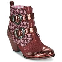 鞋子 女士 短筒靴 Irregular Choice TOO HEARTS 波尔多红