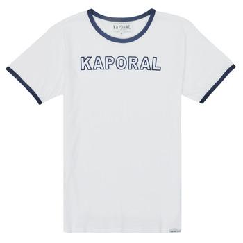 衣服 男孩 短袖体恤 Kaporal ONYX 白色