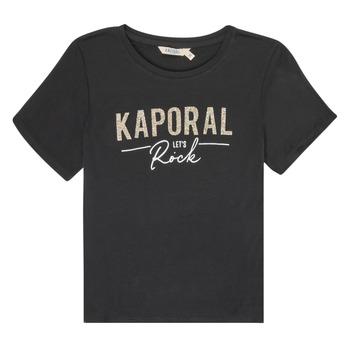 衣服 女孩 短袖体恤 Kaporal MAPIK 黑色