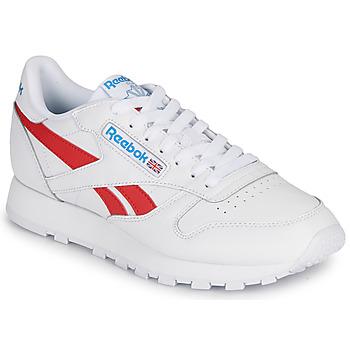 鞋子 球鞋基本款 Reebok Classic CL LTHR 白色 / 红色